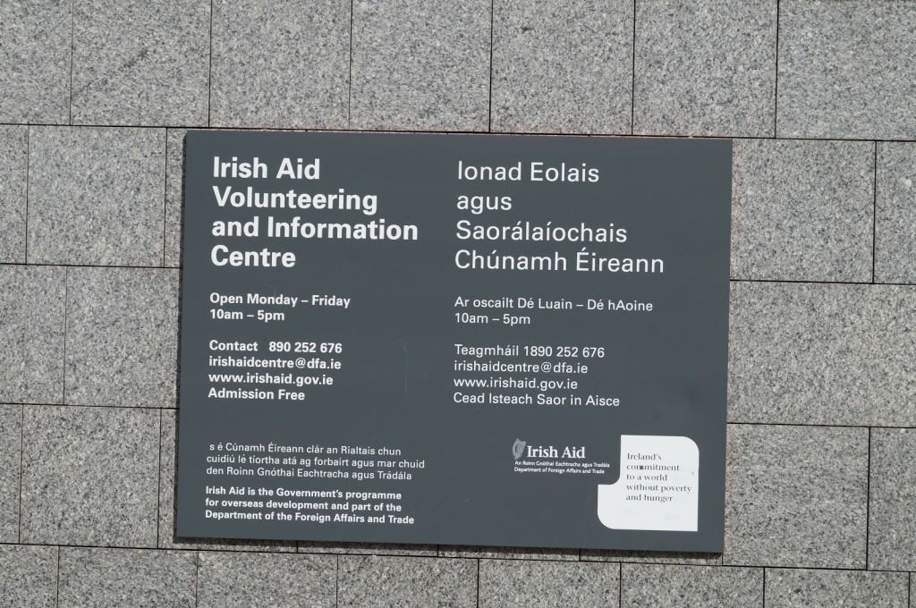 The Irish Aid Volunteering and Information Centre, Dublin, Ireland