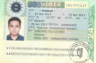 visa in ireland sample