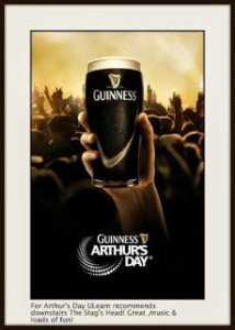 Ирландский праздник Arthur Guinness Day 2014