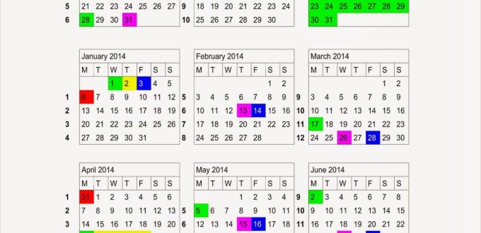 Academic Calendar of SEDA College for 2013-2014.