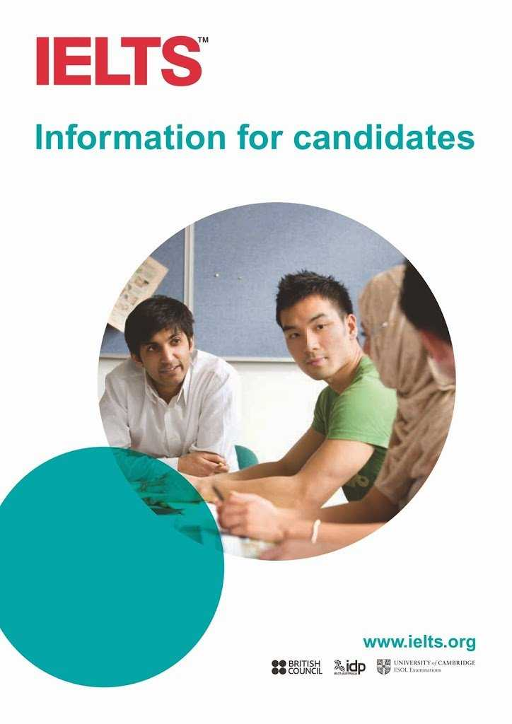 Information-for-Candidates to pass IELTS exam in Dublin-booklet1