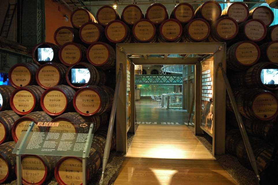 Guinness Storehouse and Brewery museum, Dublin, Ireland.