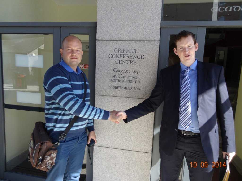 Oleksii Pieshkov visited Griffith College Dublin in 2014.