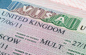 Entrance by the British visa