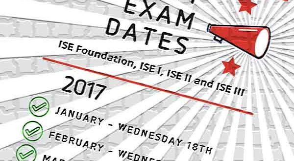 Trinity ISE Exam Dates 2017 in Ireland